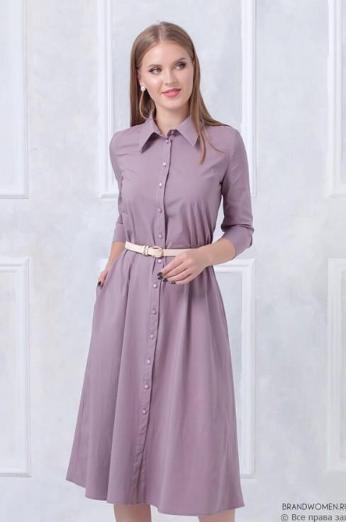 Платье-трапеция длины миди