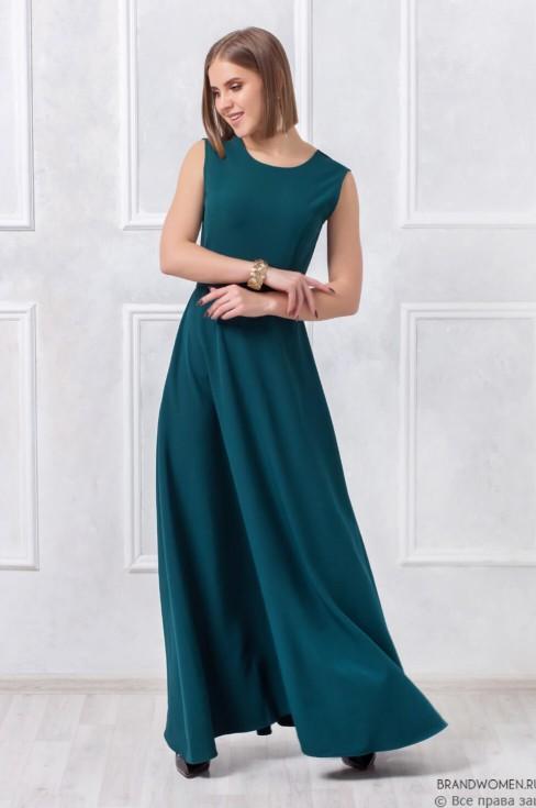 Платье-макси с открытой спиной