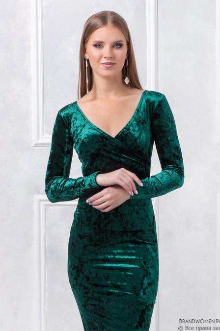 Платье-футляр с эффектом запаха
