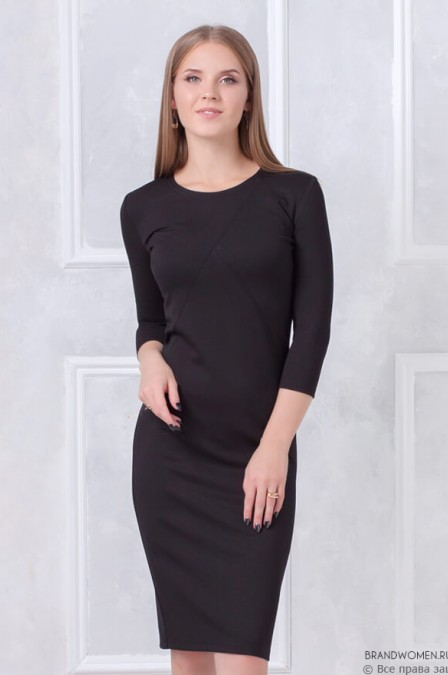 Двухцветное платье-футляр
