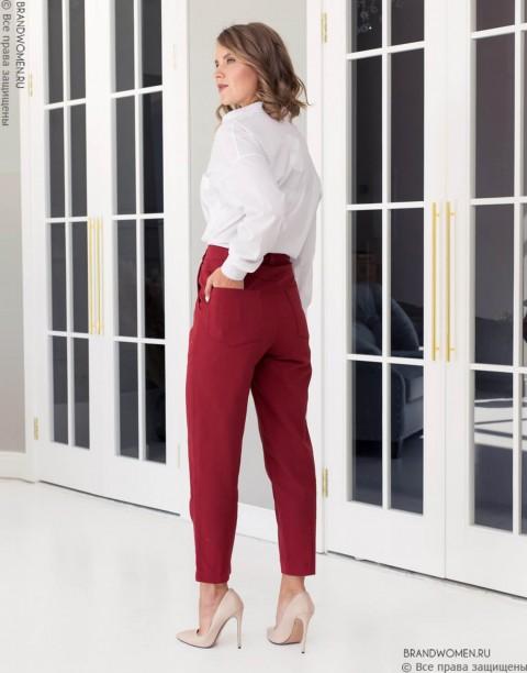 Брюки джинсовые с высокой посадкой