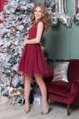 Платье длины мини с бусинами