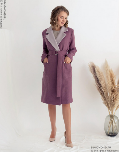 Пальто двубортное классическое