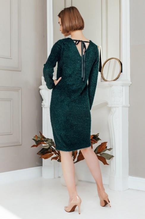 Платье-свитер с бантом на спинке