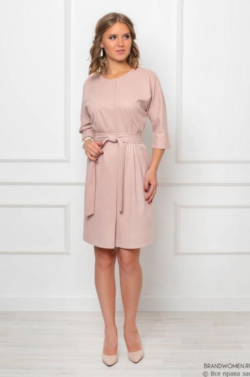 Платье-мини с планкой на груди и поясом