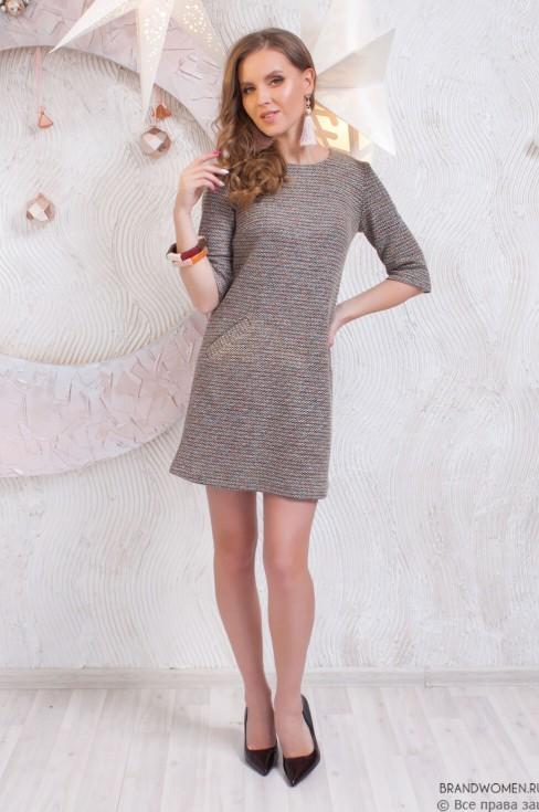 Платье-мини с карманами