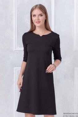Платье трапеция с оригинальной горловиной