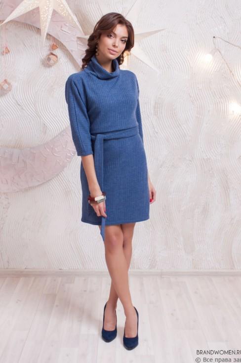 Платье-свитер с поясом