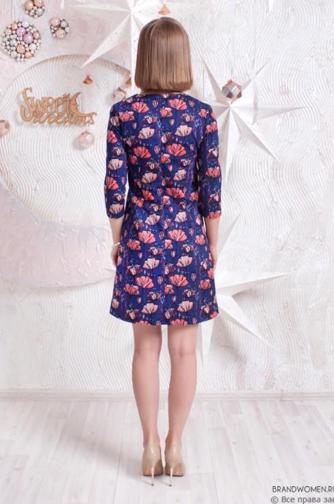 Платье-трапеция с принтом