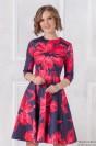 Платье-мини с крупным цветочным принтом