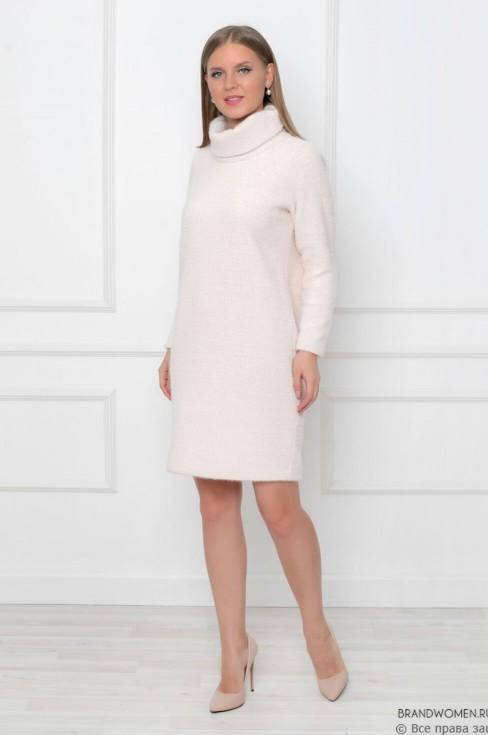 Платье-свитер с длинными рукавами