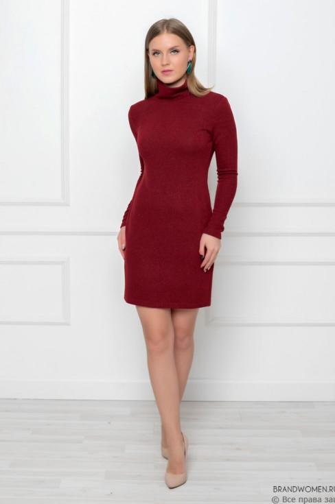Платье-свитер из трикотажа