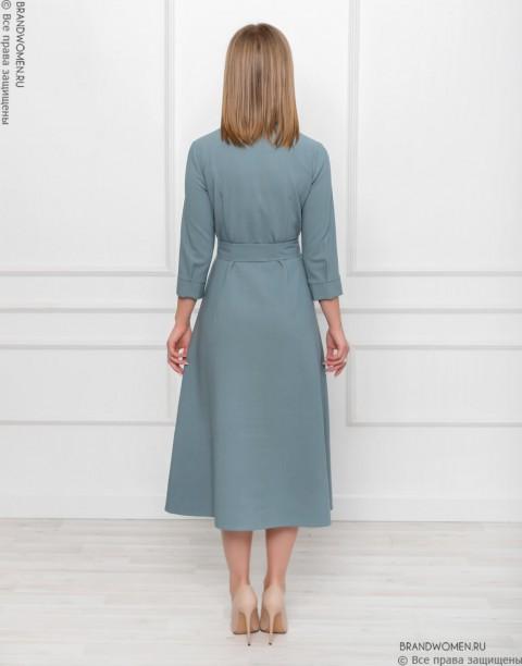 Платье-миди с потайной застежкой и поясом