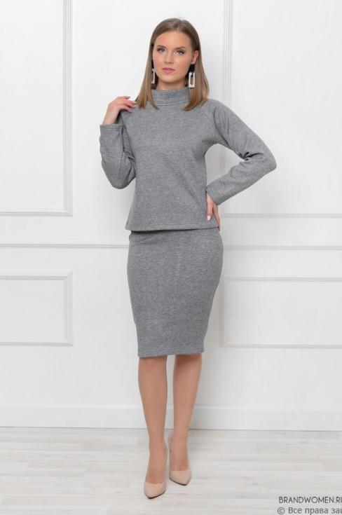 Комплект из свитшота и юбки