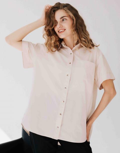Рубашка на кнопках с накладным карманом