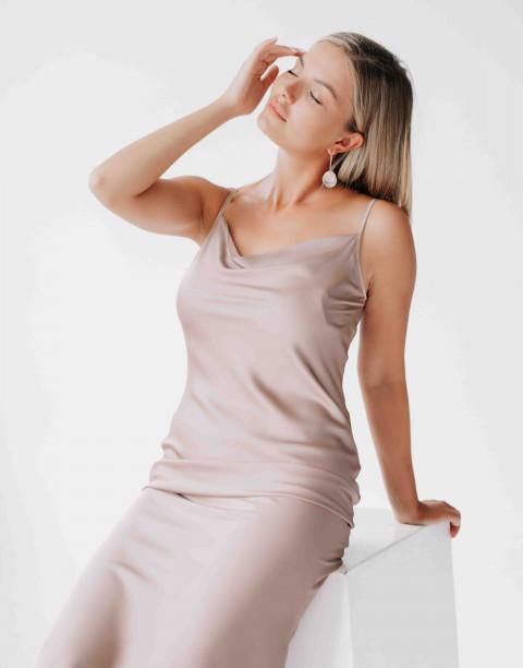 Платье-комбинация на тонких бретелях