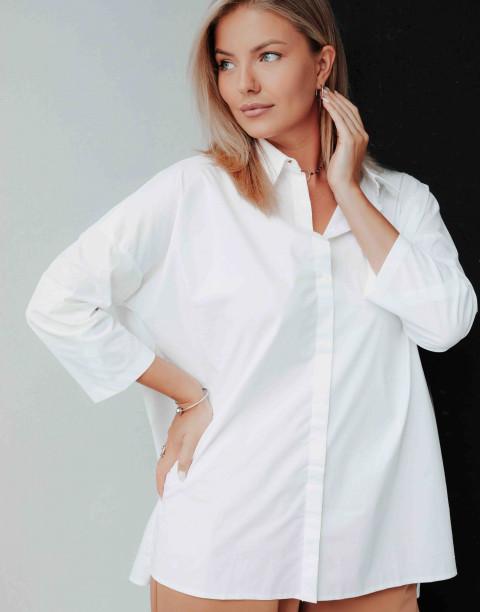 Удлиненная рубашка с разрезами по бокам