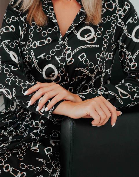 Платье-трапеция на пуговицах с поясом