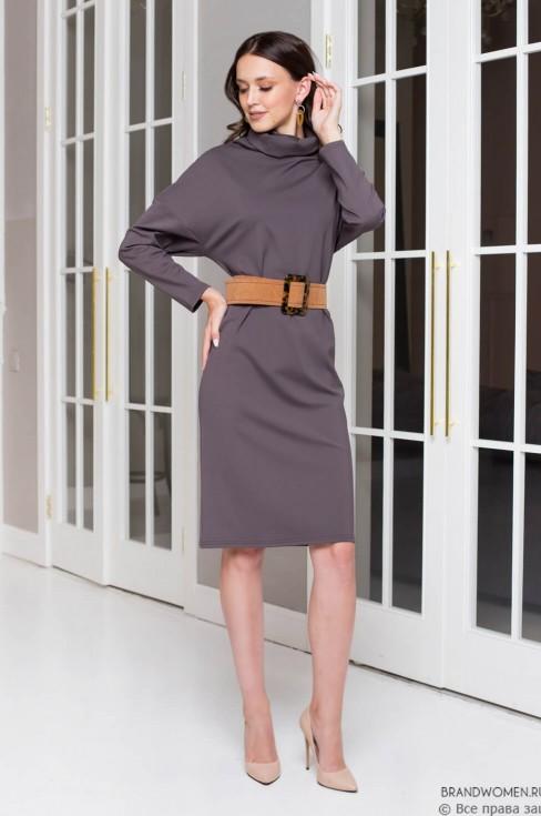 Платье-свитер длины миди