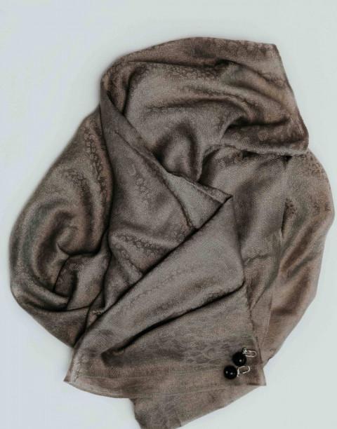 Палантин текстильный с бахромой