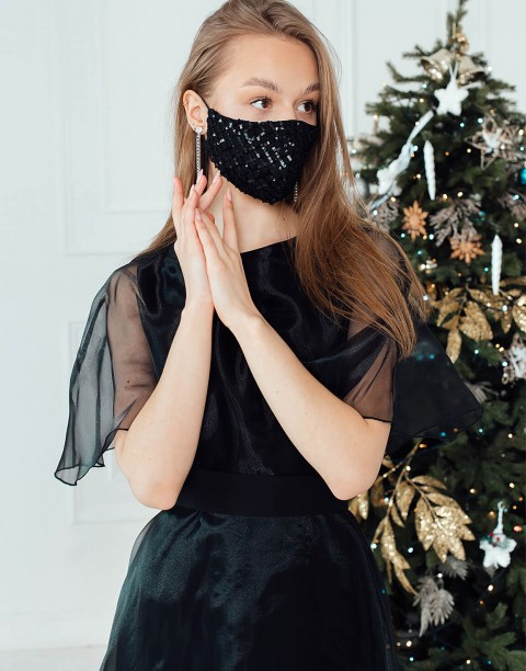 Маска защитная праздничная