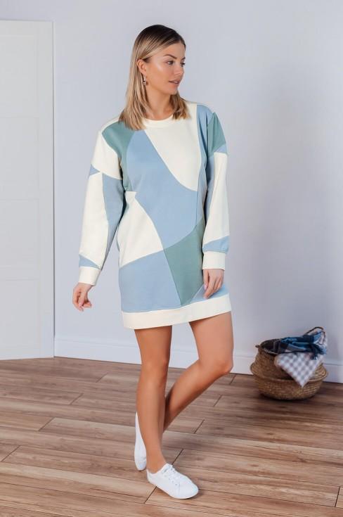 Платье-свитшот длины мини