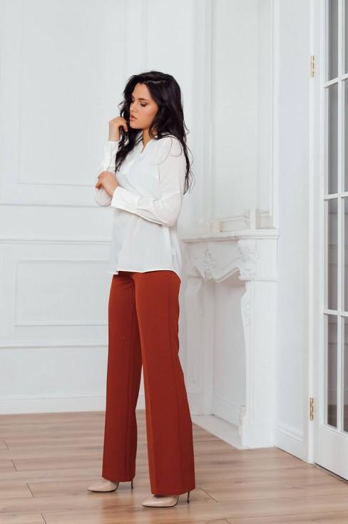 Блуза с планкой и длинными рукавами
