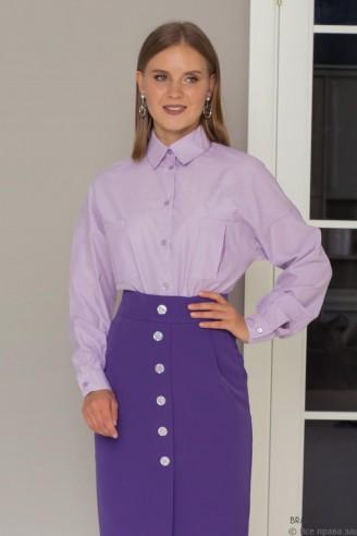 Рубашка на пуговицах с накладными карманами