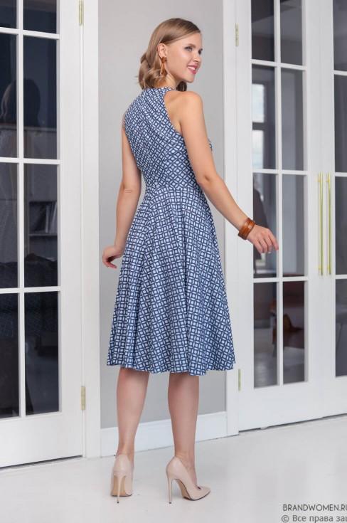Платье-миди без рукавов с карманами