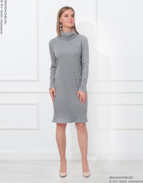 Платье-бадлон с длинными рукавами