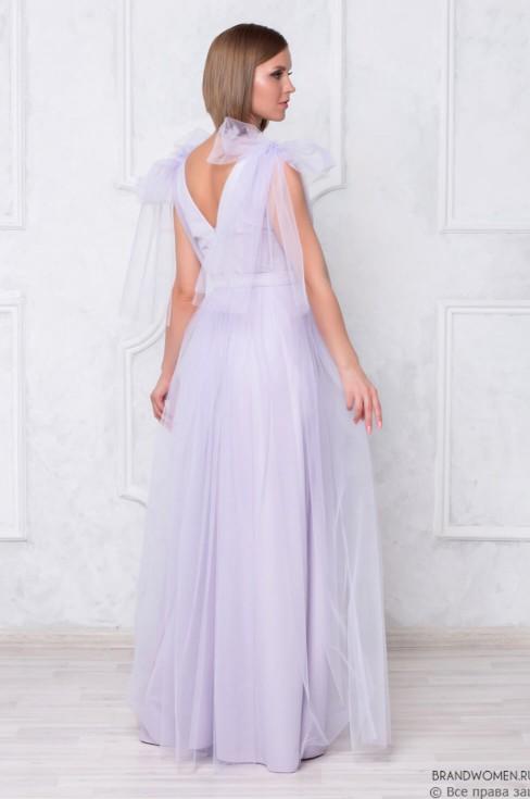 Платье-маски с бантами на плечах