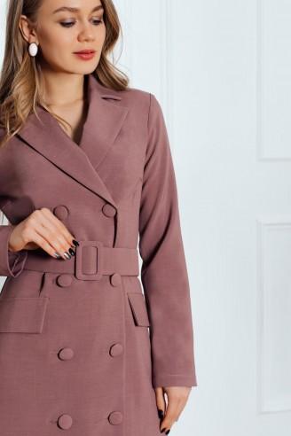 Платье-пиджак с поясом