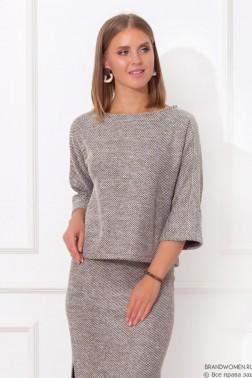 Комплект из юбки с разрезами и кофты