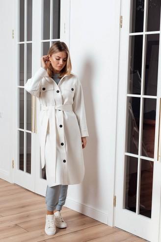 Пальто-рубашка длины миди