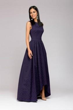 Разноуровневое платье с открытой спиной