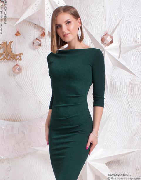Силуэтное платье с люрексом