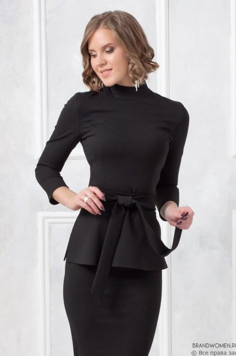 Комплект из юбки карандаш и кофты с поясом