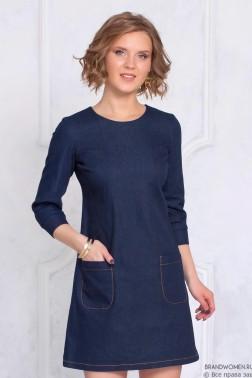 Платье-мини с накладными карманами