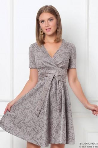 Платье-мини с вырезом на запах