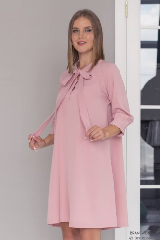 Платье-мини с бантиком