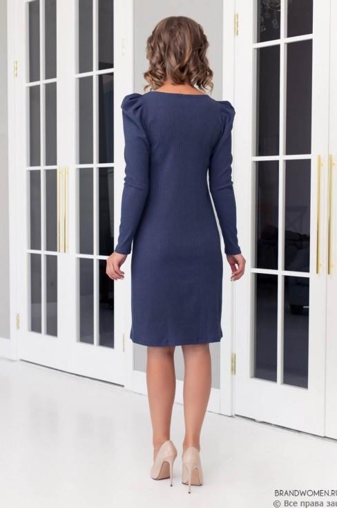 Трикотажное платье с фантазийными рукавами
