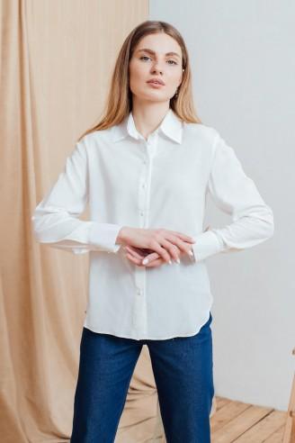 Рубашка с длинными рукавами из штапеля