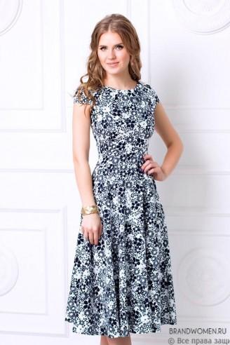 Платье длины миди с пышной юбкой