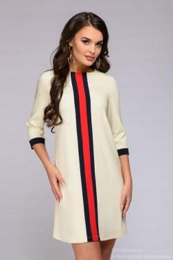 Платье с яркой отделкой