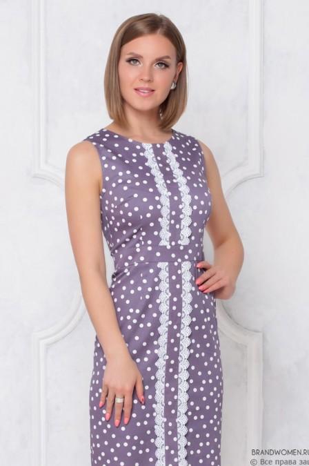 Платье-футляр с кружевной отделкой