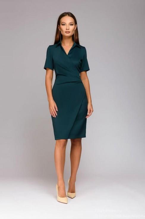 Платье футляр с имитацией запаха