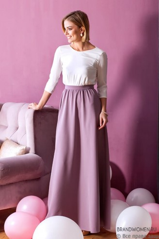 Платье в пол с открытой спиной