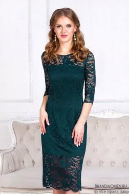 Платье длины миди из кружева