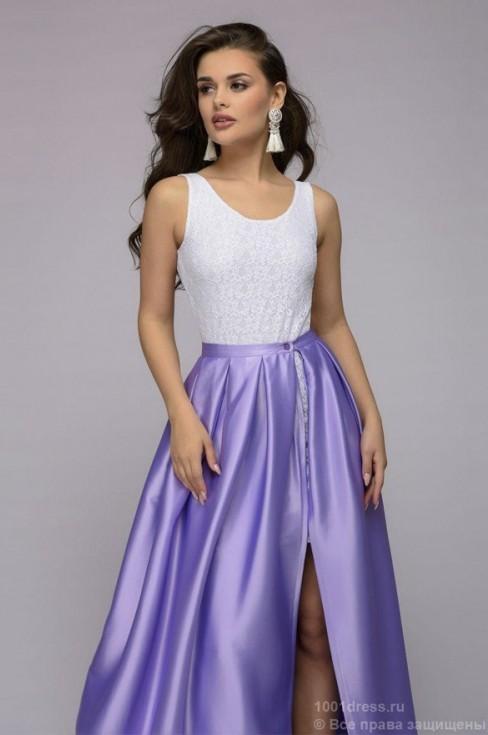 Платье со съемной юбкой в пол