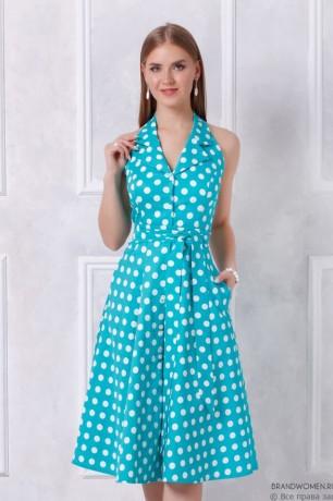 Платье-сарафан длины миди